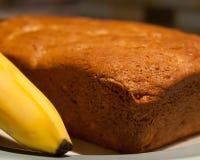 Bananenkuchen und Banane Lizenzfreies Stockfoto