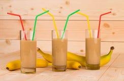 Bananenmilchshake Stockfotografie