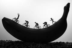 Bananenrennen Lizenzfreies Stockfoto