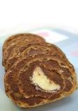 Bananenroulade, Kuchen Stockbild