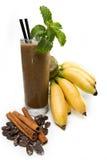 Bananensaft mit Schokolade Lizenzfreie Stockfotos
