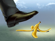 Bananenschale Stockfoto