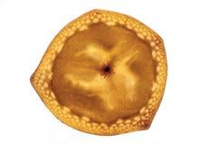 Bananenscheibe auf weißem Hintergrund Lizenzfreie Stockfotografie