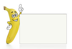 Bananenzeichentrickfilm-figur Stockfoto