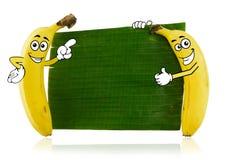 Bananenzeichentrickfilm-figuren Stockbild