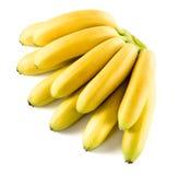 Bananer Grupp som isoleras på vit Royaltyfria Foton