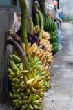 Bananer i marknadsföra Royaltyfri Bild