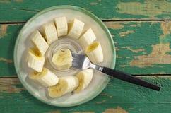 Bananer i platta Royaltyfri Foto