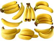 bananer isolerade white Arkivbild