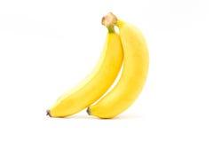 Bananer Mogna frukter som isoleras på vit bakgrund Royaltyfri Fotografi
