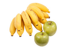 Bananer och äpplen Royaltyfria Foton