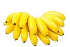 bananer samlar ihop isolerad liten white Arkivbild