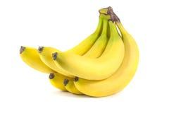 bananer samlar ihop isolerad white Arkivfoton