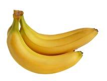 bananer samlar ihop isolerat Fotografering för Bildbyråer