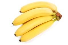bananer samlar ihop white Arkivbild