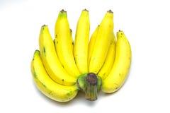 Bananes d'isolement au-dessus du fond blanc Image stock