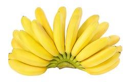 Bananes d'isolement sur le blanc Photographie stock