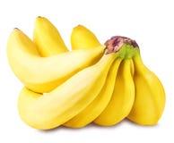 Bananes d'isolement sur le blanc Image libre de droits