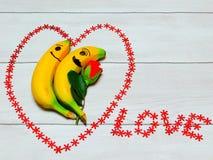 Bananes dans l'amour Images libres de droits