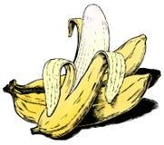 Bananes des années 50 de cru Photo stock