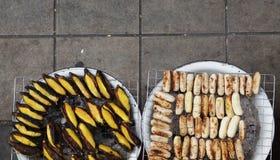 Bananes grillées thaïlandaises Images stock