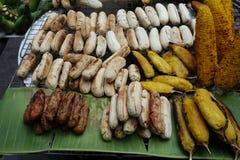 Bananes grillées thaïlandaises Image libre de droits