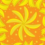 Bananes jaunes Configuration sans joint Illustration Libre de Droits