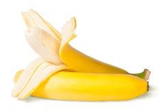 Bananes partiellement épluchées images libres de droits