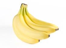 Bananes sur le blanc Images stock