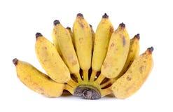 Bananes sur le fond blanc Photographie stock