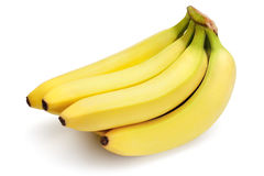 Bananes sur le fond blanc Photographie stock libre de droits