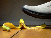 Bananeschil Royalty-vrije Stock Foto