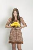 bananflicka arkivfoto