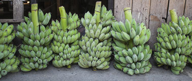 Bananfruktmarknad Thailand royaltyfri fotografi
