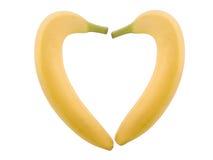 bananhjärta arkivfoton