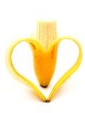 bananhjärtaform Royaltyfri Fotografi