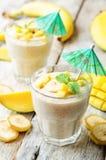 Bananmangosmoothie Royaltyfria Foton