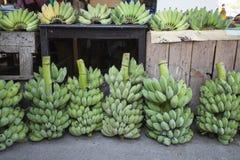 Bananmarknad Thailand Royaltyfri Foto