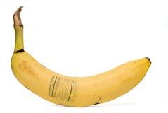 Banannäringfakta Royaltyfri Bild