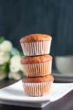 Bananna cupcake Stock Images