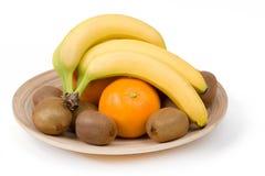 Bananna i inna owoc Zdjęcia Royalty Free