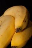 Bananna op zwarte Royalty-vrije Stock Foto's