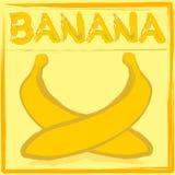Bananowa etykieta Obraz Royalty Free