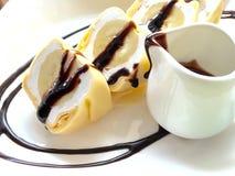 Bananowa krepa Zdjęcie Royalty Free