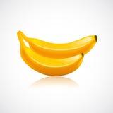 Bananowa owocowa ikona Obrazy Royalty Free