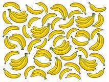 Bananowa tło kreskówki wektoru ilustracja Obraz Royalty Free