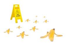 Bananowa łupa Fotografia Royalty Free