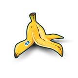 Bananowa łupa z cieniem Zdjęcia Stock
