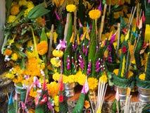 Bananowe liść ofiary Fotografia Royalty Free