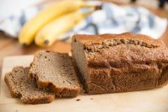 Bananowego chleba bochenek Fotografia Royalty Free